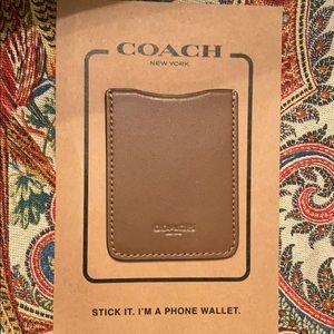 Coach Phone leather Pocket Sticker